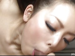U know a lot of Japanese women are very sexual. Yuki is no exception, loving having two schlongs to play with instead of just one. They acquire her cunt juicy and that babe responds by taking turns engulfing and licking 'em both. Then that babe keeps both happy by having one fuck her and engulfing the other.