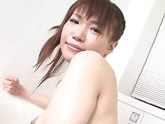 Pal licks, fingers and bonks bushy slit of girlie from Asia